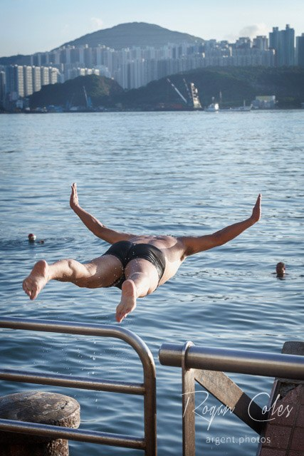 Swimming in Victoria Harbour, Hong Kong