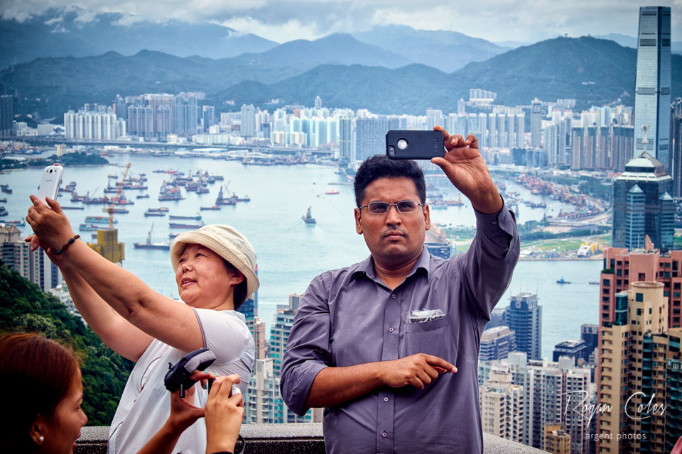 Selfies on Victoria Peak, Hong Kong