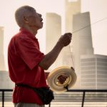Flying kites on The Bund in Shanghai.