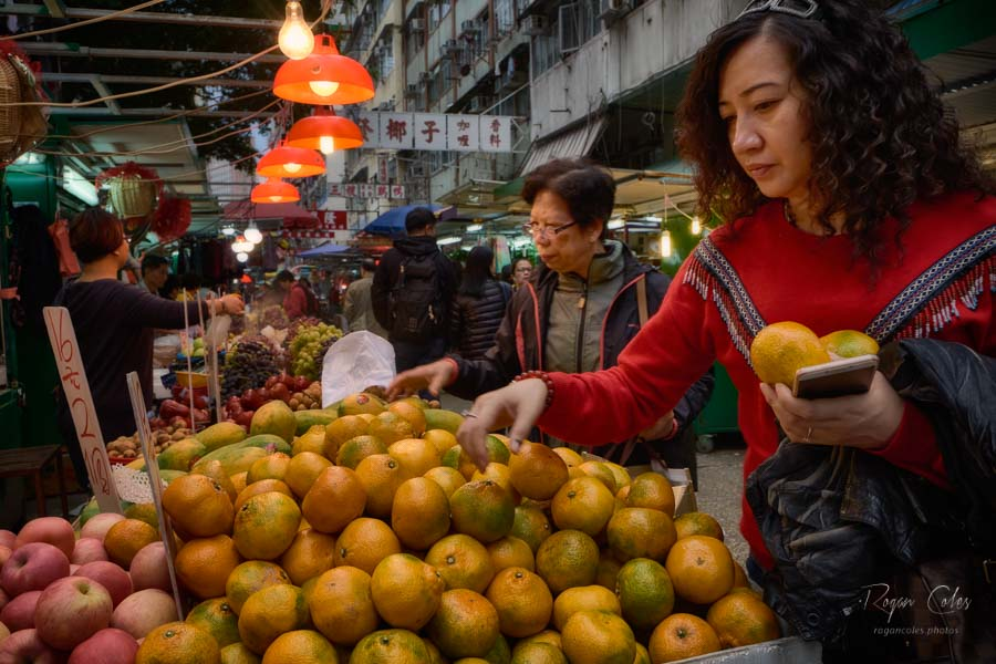 Scenes from Reclamation Street market in Kowloon, Hong Kong